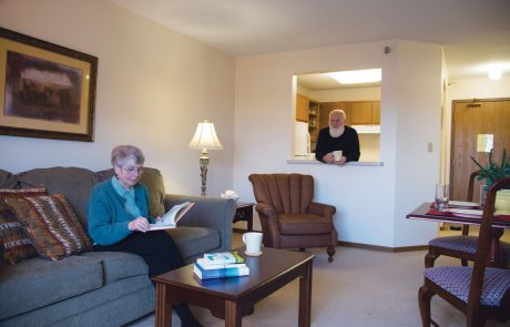 The Downtown Plaza Residents in Apartment Living Room