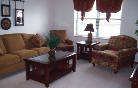 The Downtown Plaza Apartment Living Room